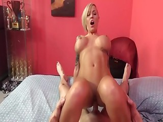 Fabulous pornstar Alexia Vosse in incredible 69, blowjob making love clip
