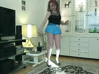 Hot milf dancing with miniskirt 2