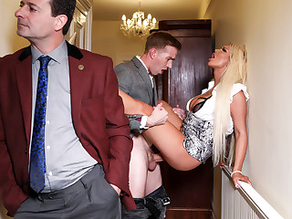 Brooklyn Blue & Danny D wide Behind Her Husbands Back - BRAZZERS