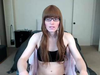 Tranny shemale amateur in all directions lingerie trifle solo play