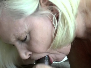 British gran eaten out after sucking cock