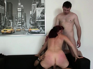 Hot office mature double penetration