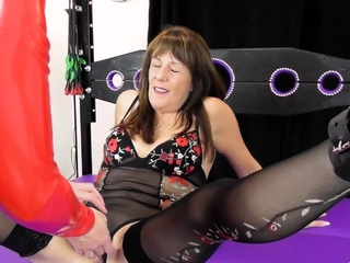 OldNannY Bitish Mature Lesbians Trying Bondage