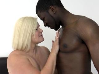 British gran eaten out after sucking cock