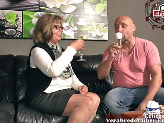 German grandma and mature woman fuck grandson