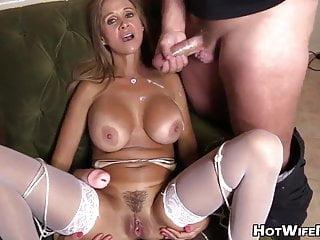 Handjob, blowjob and cumshot on a superb woman, compilation