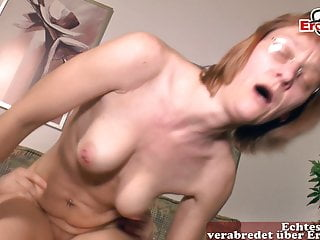 Ugly German mature housewife mom does porn players