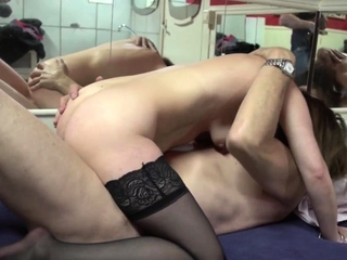 Mature prostitute gets pussy licked