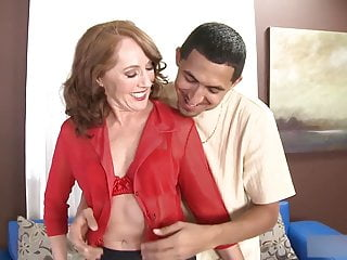 Over 50yo Redhead Milf Sucks coupled with Fucks Lucky Supplicant