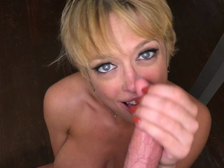 Sucking Cock From Blonde Milf With Huge Pair