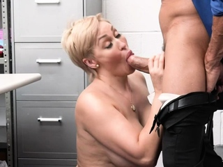 Tommy pounds and cums on MILF Ryan's pussy