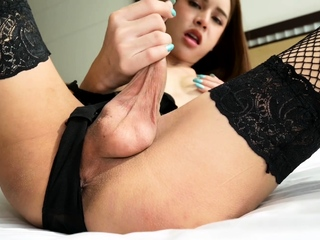 Teen Ladyboy Kitty Mouth With an increment of Ass Fucked Bareback