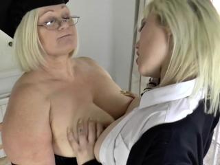 Mature poof headmistress rims ass