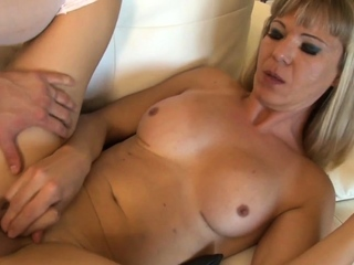 Blonde ladyboy smashed