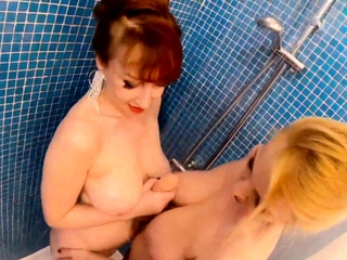 Matures Red-hot XXX and Lucy Gresty teasing in the shower