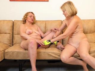 extreme flagitious lesbian granny yoga