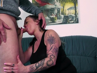 BBW housewife learning how to fuck