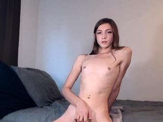Laconic tits tranny Sienna Grow solo masturbation with sextoy