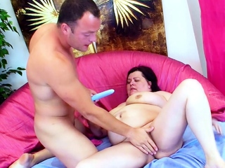 Beamy Fat Mature with Beefy Monster Tits Fuck wits Young Guy