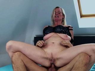 german blonde mature milf get anal fuck