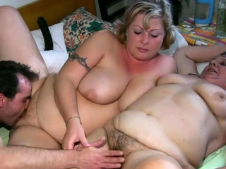 Fat granny and wholesale pussy tease and hot threesome