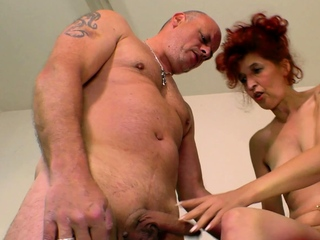 german ugly shrivelled mature redhead housewife