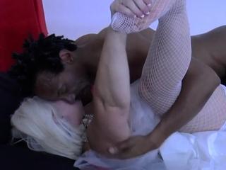 Granny bride sucks dick