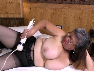 LatinChli Extremely Busty Latina Solo Masturbation