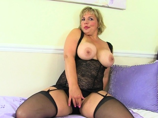 Hot milf Danielle lets say no to clit grow and glow with a sex bauble