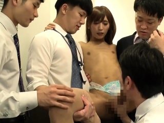 Second-rate group sex with Asian Tgirls