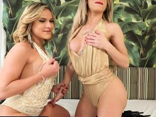 Big tits latina trannies 3some down guy