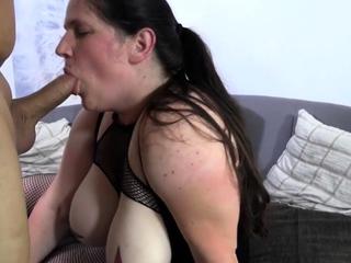 AmateurEuro - Brunette Italian mature newbie fucks two