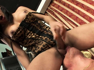 Busty latin ts blown and rimmed by bf
