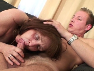 Aged mother-in-law agrees to a good fuck